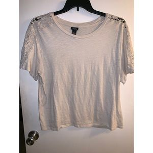 Cream Rue 21 shirt